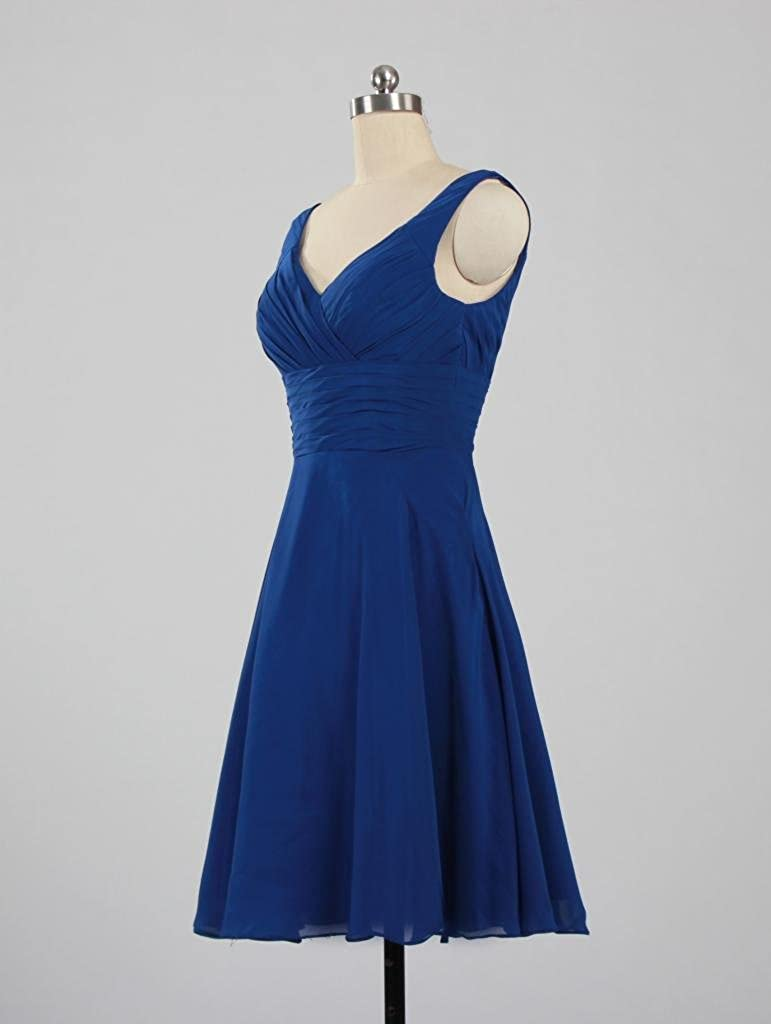 4818636df9c ANTS Women s Pleated Sweetheart Bridesmaid Dresses A Line Cocktail Gown  T753-MFN larger image