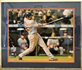 MIKE LOWELL SIGNED 16x20 PHOTO AT BAT 2007 BOSTON RED SOX WORLD SERIES MLB FRAME