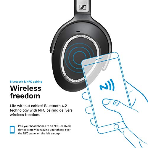 Sennheiser PXC 550 Wireless – NoiseGard Adaptive Noise Cancelling,...