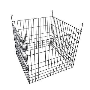 MTB Garden Wire Compost Bin 30″ L x30 W x 24″ H, Green, Garden Bed Fencing