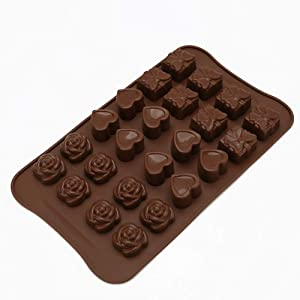 Chocolate & Sweet Moulds,Food Grade Silicone Mold,Cake Sculpting & Modeling Tools,for Chocolate, Ice Cubes Trays, Jelly, Sweets, Desserts Making(Flower Shape + Heart Shape + Butterfly)
