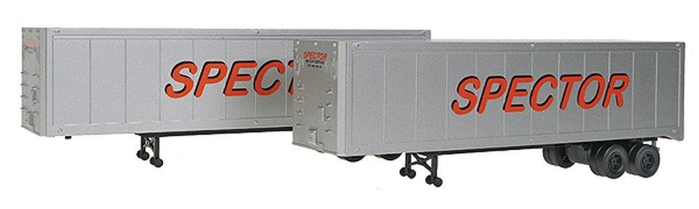 【再入荷】 Walthers SceneMaster - 12m - Trailer 2-Pack Lettering) - Assembled Large -- Spector Motor Service (silver, red, Large Lettering) - HO B00C6R3KNO, ベルーナ:84772638 --- a0267596.xsph.ru