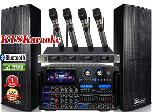 - Bundle IDOLpro IPS-DELUXE I 1500W Premium Loudspeakers & Mixing Amplifier IP-7000 & Quad Wireless Microphones