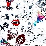 Dauntless Temporary Fake Tattoo Sticker (Set of 2) - www.ohmytat.com