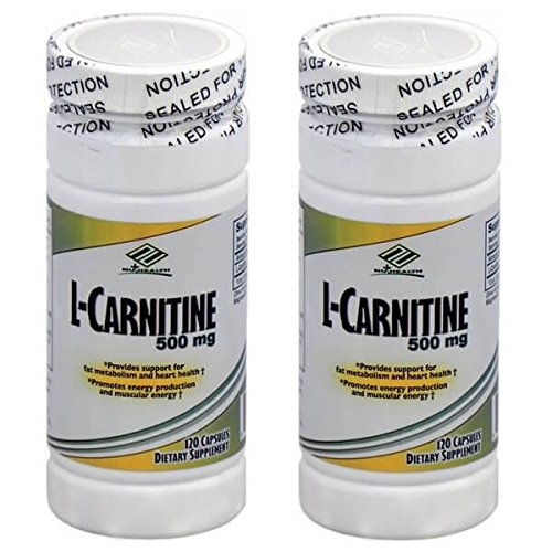2 Bottles Nu-Health L-Carnitine 500 MG (120 Capsules) by Nu-Health