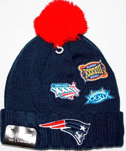 Super Bowl New Era Cuffed up Beanies - New Era 2014 Patriots Knit Hat