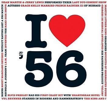 Amazon.com: 1956 – Regalos de cumpleaños I Love 1956 tarjeta ...
