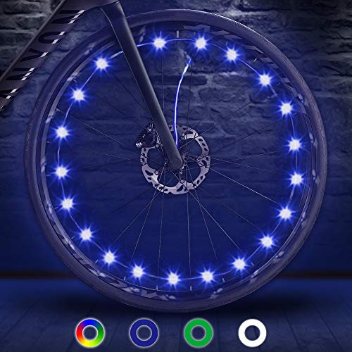 TIPEYE LED Bike Wheel Lights IP65 Waterproof with Batteries Included Easy to Install Bike Spoke Decorations Visible from All Angles for Ultimate Safety and Kids