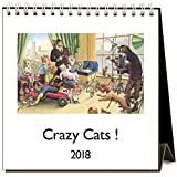 Crazy Cats ! 2018 Easel Desk Calendar