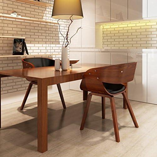 Festnight Lot de 1/2/4/6 chaises à accoudoirs confortable salle à manger brun