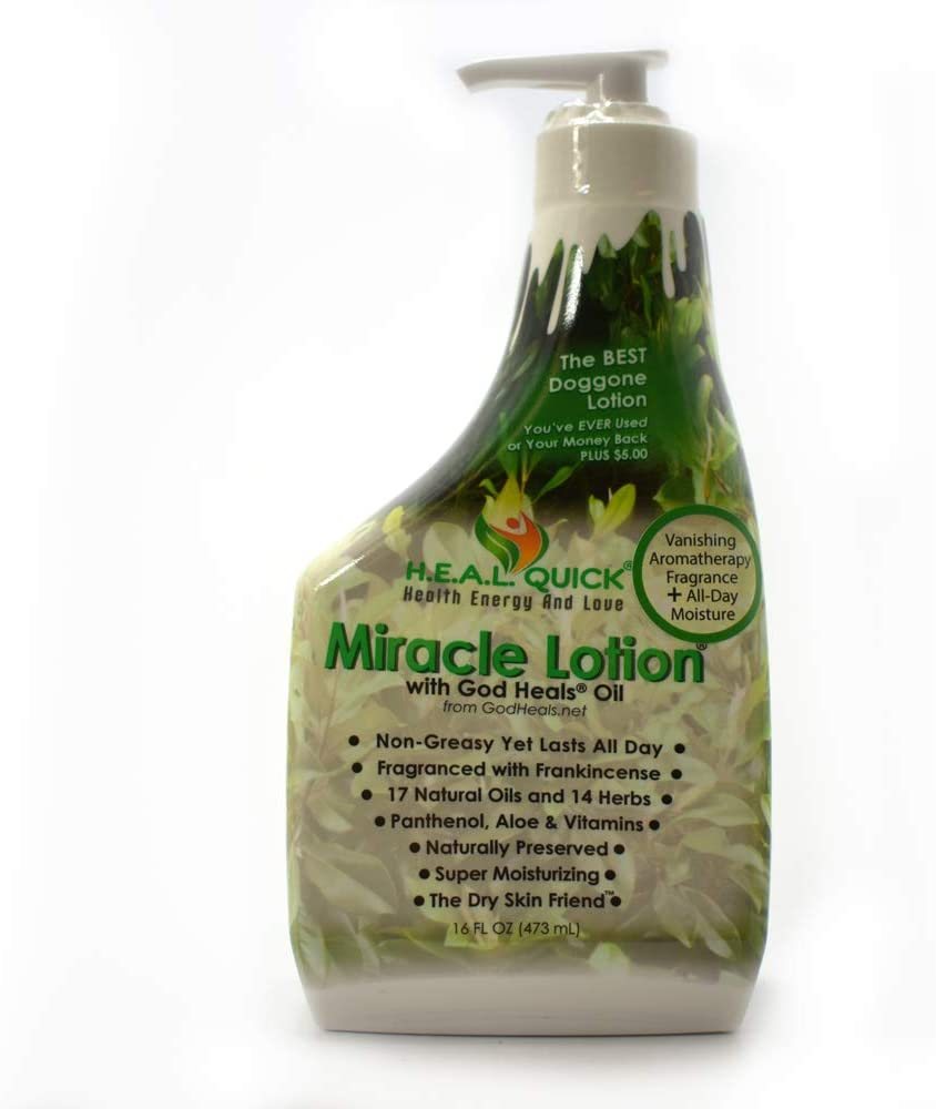 Miracle Lotion with God Heals Oil - 16 oz