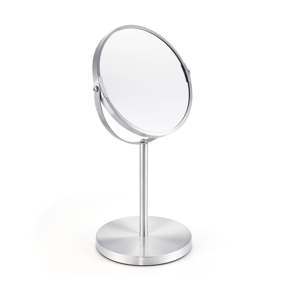 FIRMLOC Makeup Vanity Mirror 3X Magnifying, 6-inch Double-side Mirror, Tabletop Swivel Mirror Chrome Finish, 13-inch Height by FIRMLOC