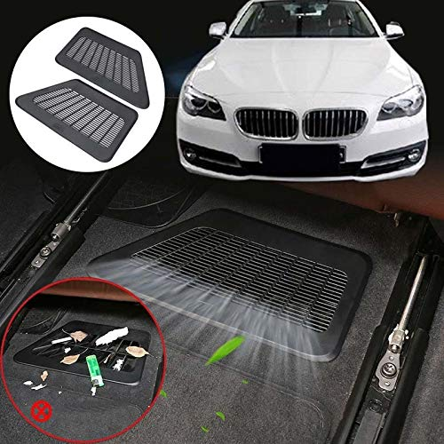 VT BigHome Car Styling Vent Cover Under Seat Grille air Condition dust Vent Cover Mat for BMW 5 7 Series F10 F11 F18 F01 F02 F03 F04 11-17 ()