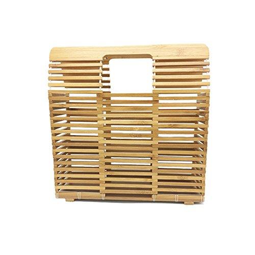 Bolso Bolsa Almacenamiento Meaeo Bolsa Japonés Tejida Portátil Tejida Bambú Bolsa De Artesanía De qq1WUnv8T