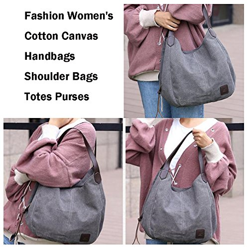 Crossbody Tote Red Handbags Bags Shopping Shoulder Top Women's Bags Causal Canvas Handle qwffFY