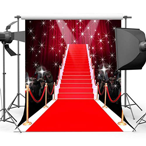 5x7ft Celebrity Paparazzi Hollywood Red Carpet backdrops Portrait Cloth Computer Printed Wedding Photo Studio Background DD-MR-1981