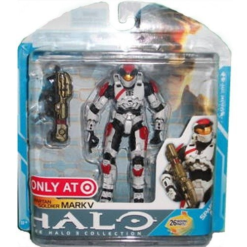 Spartan Mark - McFarlane Toys Halo 3 Series 7 Spartan Soldier Mark V Exclusive Action Figure [White]