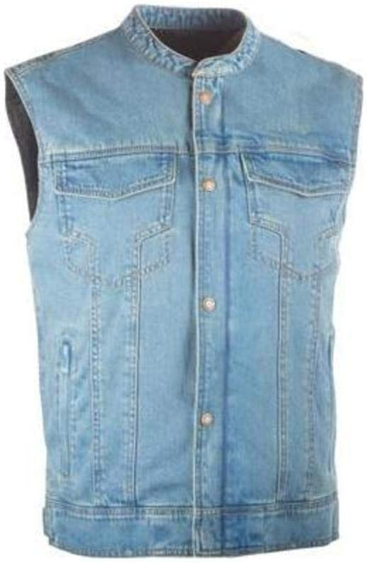 Blue, XXX-Large Highway 21 6049 489-10797 Club Collar Iron Sights Denim Vest