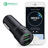 nonda 30W Quick Charge 2.0 Dual USB Smart Car Charger, Car...