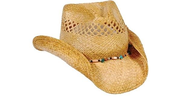 f65f03ef180b3 Conner Hats Women s Gem Ladies Western Raffia Straw Hat