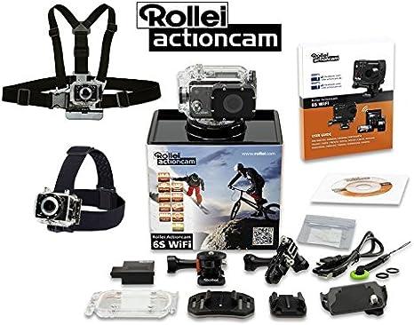 Rollei® Cámara deportiva ActionCam 6s WiFi impermeable 16 Mpx (máquina AEE, PNJ) Pack Premium Mini cámara integrada hd – Kit con accesorios y fijaciones: Amazon.es: Electrónica