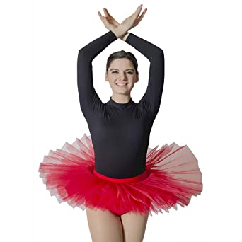 04ef8b1bf Amazon.com: HDW DANCE Women Professional Ballet Platter Tutus 5 Layers Skirt  Without Underpants: Clothing