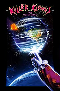 Killer Klowns from Outer Space White Gift Halloween Satin Poster No Frame