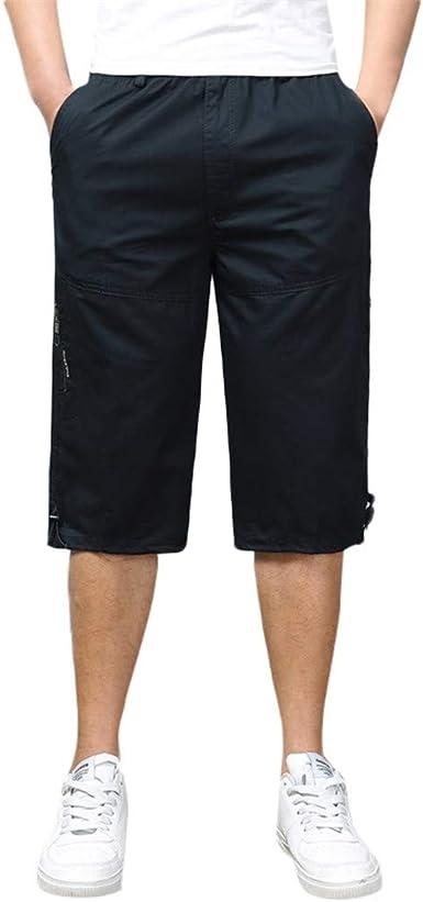 Esailq Pantalon Chandals Hombre Bermudas Cargo Shorts Hombres Pantalones Cortos Leisure Casual Pantalon Multibolsillos Hombre Amazon Es Ropa Y Accesorios