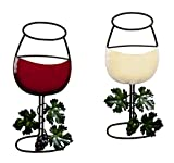 Wine Glass Wall Hanging Set of 2