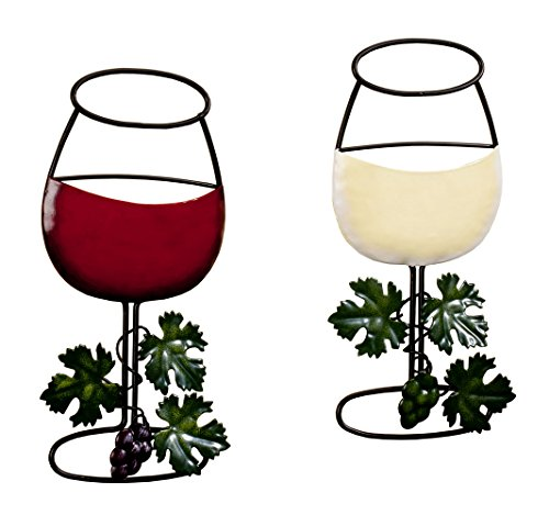 Wine Glass Wall Hanging Set