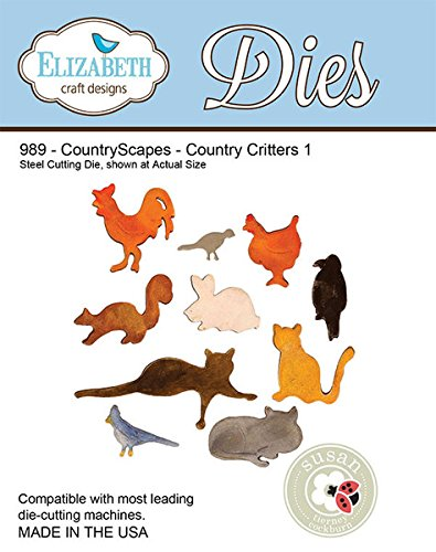 Elizabeth Craft Designs Country Scapes Steel Cutting Die, Country Critters 1