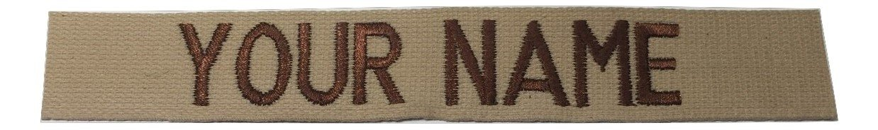 Custom ACU Multicam Black ABU .., US ARMY USAF USMC, Name Tape or Branch Tape, with Fastener or Sew-On (Without Fastener, DESERT TAN) by JSM Auto (Image #1)