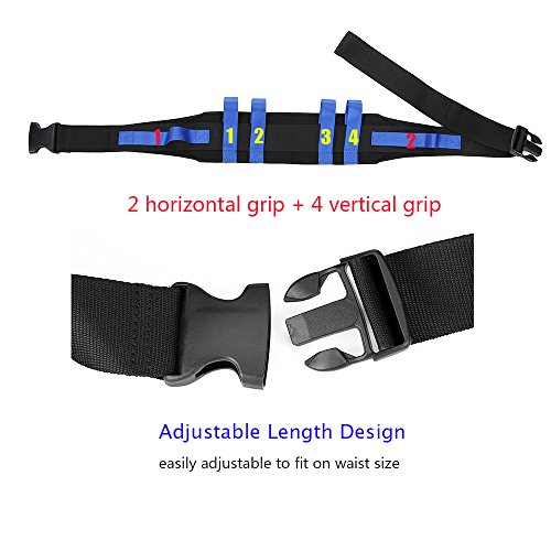 Transfer Gait Belt Patient Walking Safety Lift Sling Medical Slide Board Wheelchair & Bed Transport Physical Therapy Nursing Assistant Gate Belts for Seniors, Bariatric, Elderly (Blue) by NEPPT (Image #3)