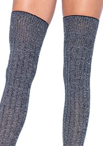 Leg Avenue Womens Heather Rib Knit Thigh Highs