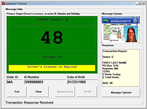 E-Seek - M280 - ID Card Reader with Flat Bed Scanner + GuardScan Visitor Management Software