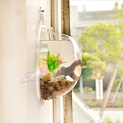 Vktech® Plant Wall Hanging Mount Bubble Aquarium Bowl Fish Tank Aquarium Home Decoration