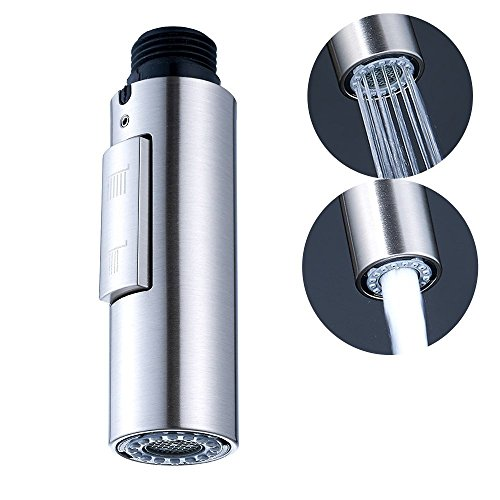 Faucet Spray Nozzle Head G1/2 Faucet Head Replacement,Kitchen Bath Fixtures Pull-Out Brushed Nickel …