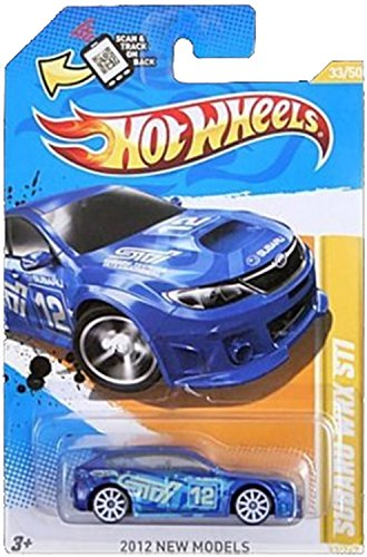 Hot Wheels 2012 New Models #33 / 50 # 033 Subaru WRX STI Blue Wrx Sti Race