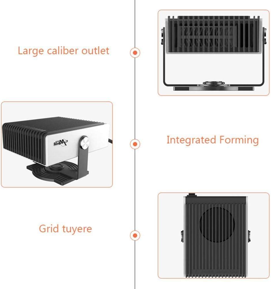 BluCos Sbrinatore riscaldatore per Auto 12V Riscaldamento e Vento Freddo 2 in 1 Potente Ventola per Riscaldamento Auto con Rotazione a 180 Gradi sbrinatore per Parabrezza Portatile 150W