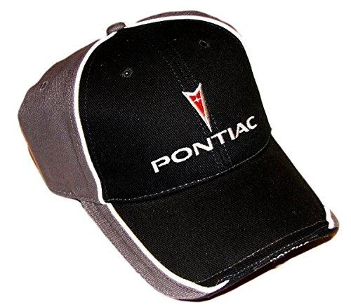 Pontiac Logo Hat Cap Black/Gray Racing Decal Included (Pontiac Decals Racing)