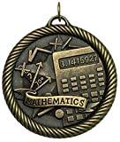Hammond & Stephens Multi-Level Dovetail/Mathematics Value Medal, 2 in, Solid Die Cast, Gold
