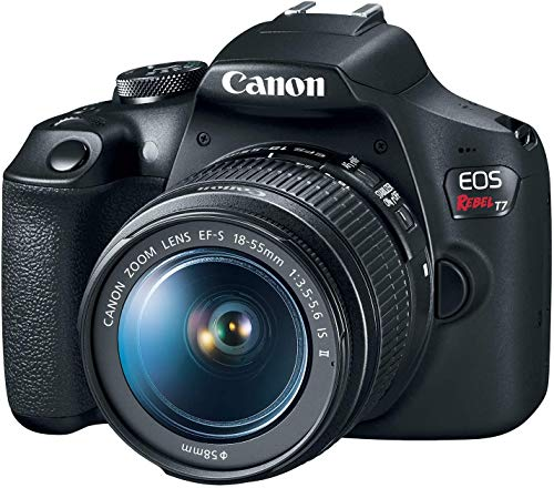Canon EOS Rebel T7 DSLR Camera Bundle with Canon EF-S 18-55mm f/3.5-5.6 is II Lens + 2X 32GB Memory Cards + Filters…
