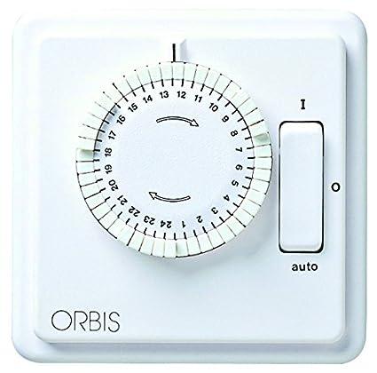 Orbis Ilumatic 248 D 230 V interruptor horario analógico debajo de enyesados, OB1618248