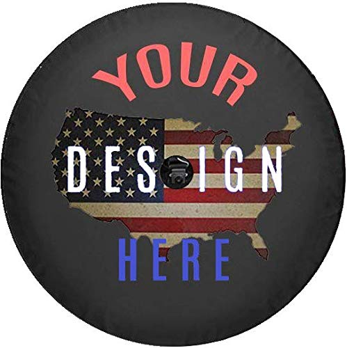 American Unlimited Custom JL Jeep Tire Cover You Design Personalized Full Color Spare Tire Cover Size 33 -