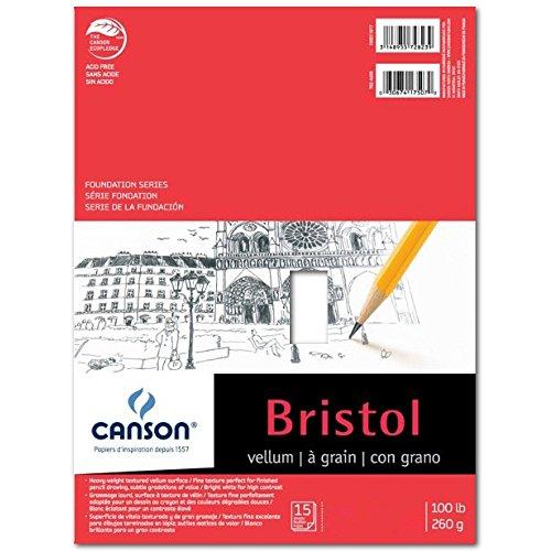 Canson Foundation Bristol Pads vellum 9 in. x 12 in.