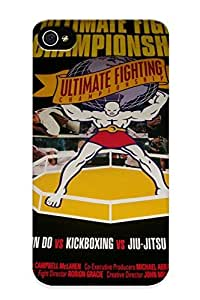 Fireingrass Case Cover For Iphone 4/4s - Retailer Packaging Ufc Mixed Martial Arts Mma Fight Extreme Poster Posters Protective Case