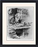 Framed Print Of Karl Marx In His Study