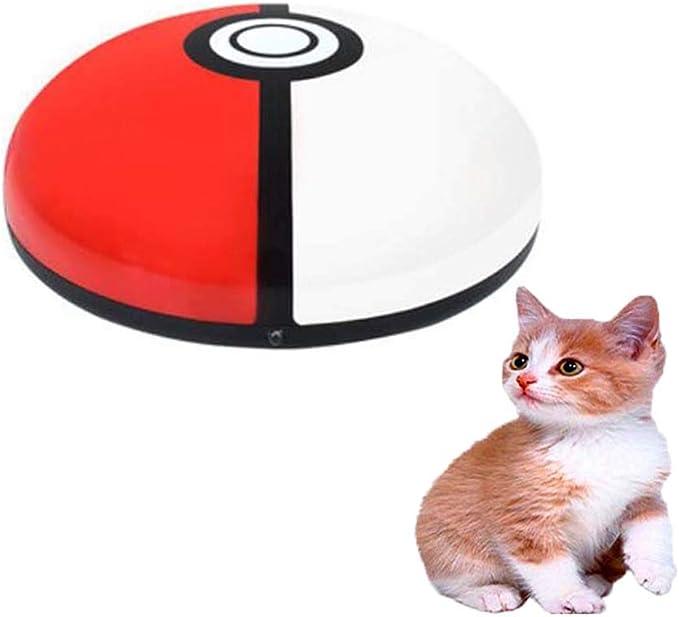 FXQIN Divertido Robot de Barrido de Gato y Juguete Teaser de Gato, Carga USB/con luz y música, Juguete de enriquecimiento Interactivo de Gato, Aspirador de Robot de Gato, para Pisos Duros: Amazon.es: