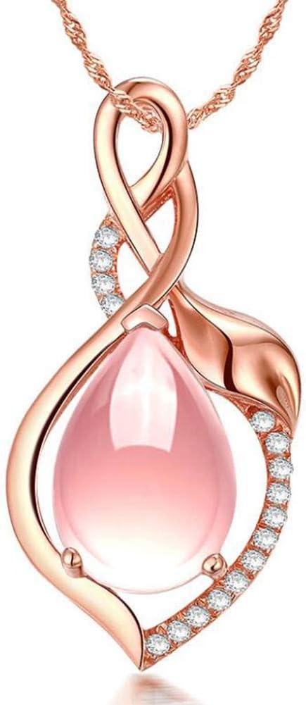 HTMSR Polvo Esmeralda Colgante De Cristal Oro Rosa 925 Incrustaciones De Plata En Forma De Lágrima Forma Natural Piedra De Piedra De Oro De Furong Colgante De Diamante Joyería