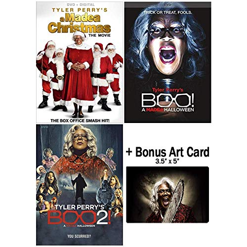 Tyler Perry's Madea Holiday Film Series Collection inc. Christmas & Halloween Movies + Bonus Glossy Art -